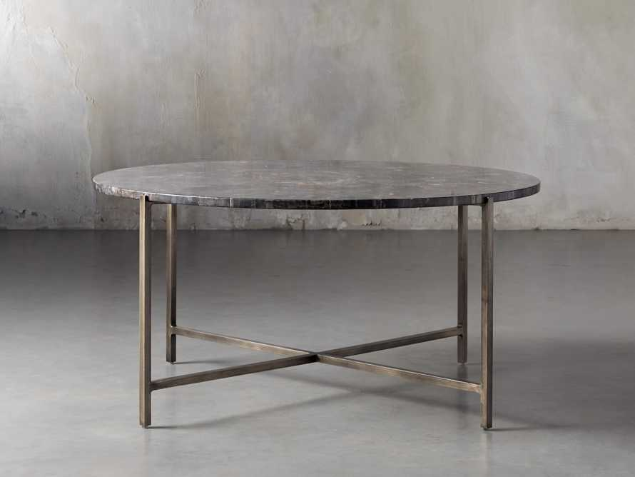 "Ludlow 36"" Petrified Wood Coffee Table, slide 1 of 6"
