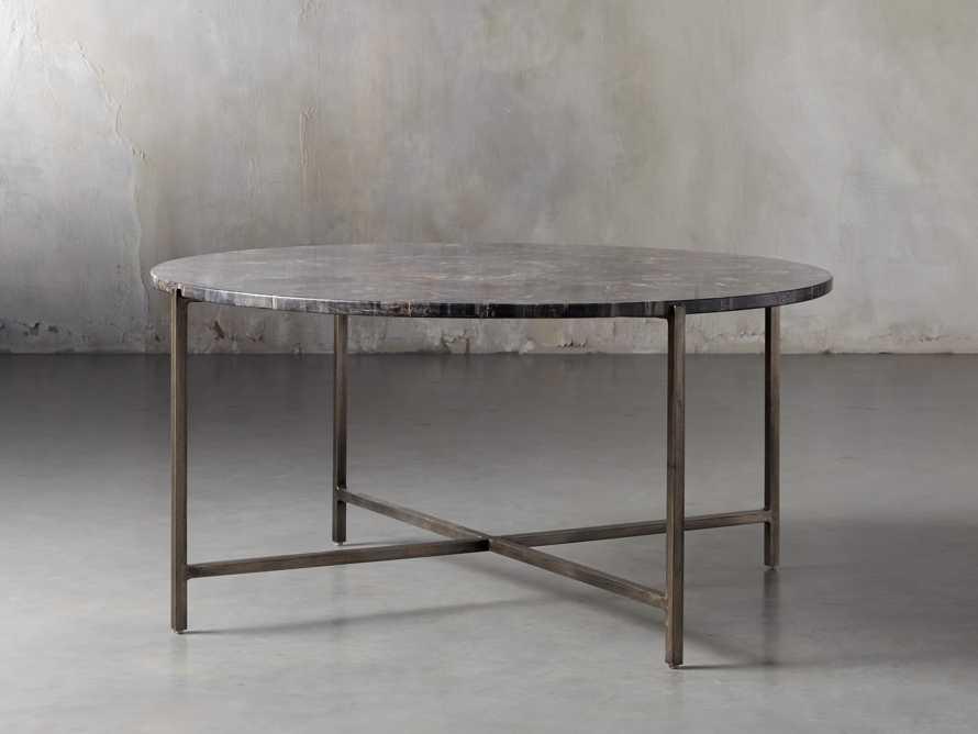 "Ludlow 36"" Petrified Wood Coffee Table, slide 2 of 6"