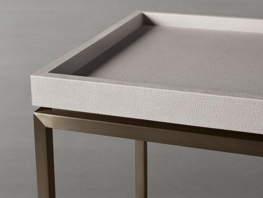 "Malone 66"" Console Table in Shagreen Bone, slide 5 of 8"