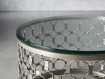 """Naomi 30"""" Round Coffee Table in Pewter"""