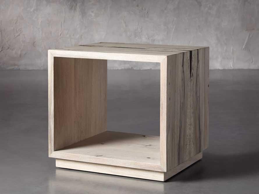 "Nika 24"" Spalted Oak Cube End Table, slide 2 of 8"