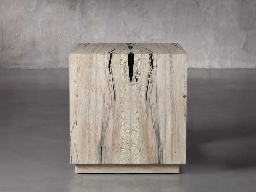 "Nika 24"" Spalted Oak Cube End Table, slide 3 of 8"