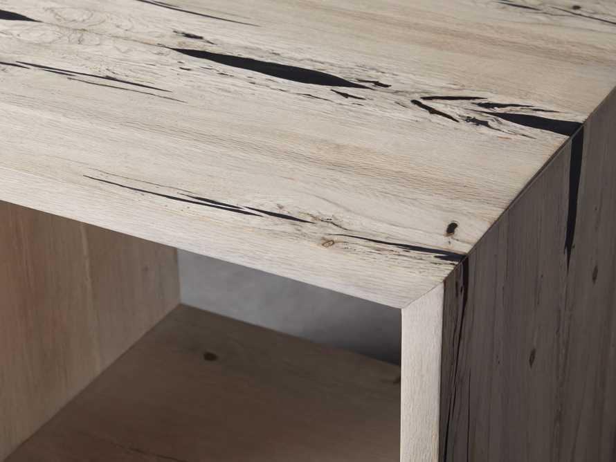"Nika 24"" Spalted Oak Cube End Table, slide 4 of 8"