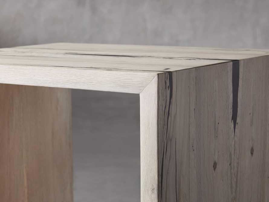 "Nika 24"" Spalted Oak Cube End Table, slide 5 of 8"