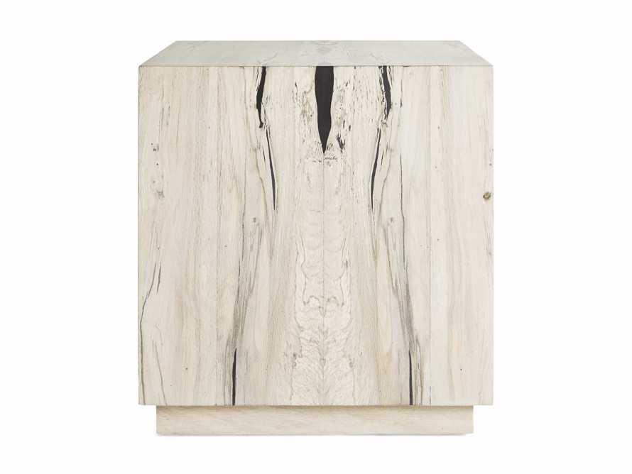 "Nika 24"" Spalted Oak Cube End Table, slide 8 of 8"