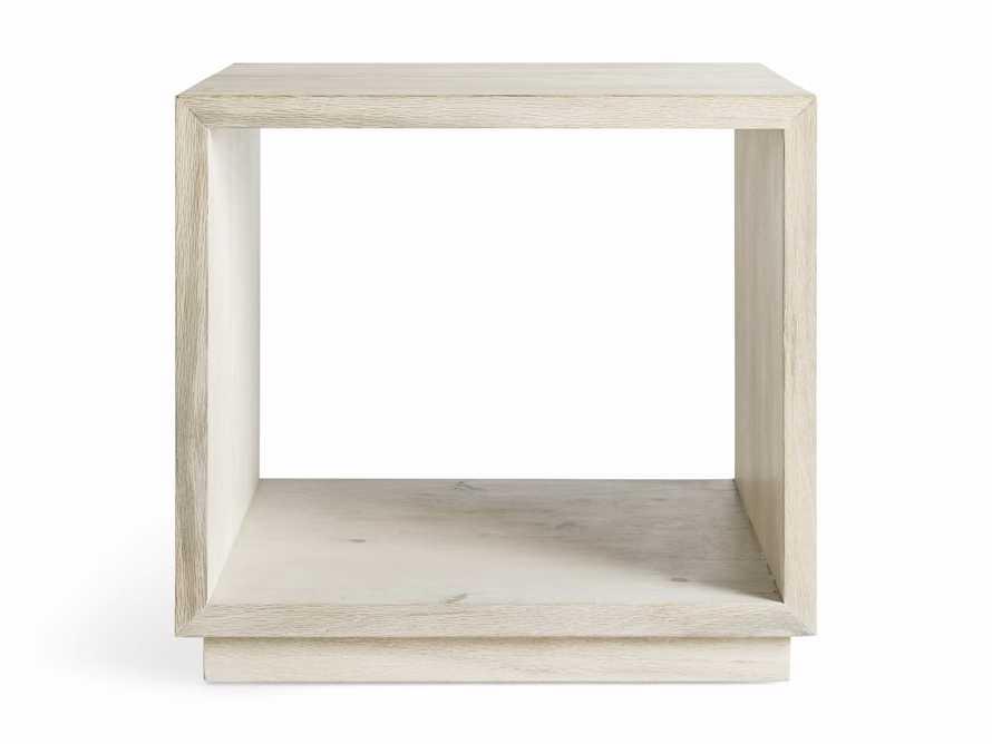 "Nika 24"" Spalted Oak Cube End Table, slide 7 of 8"