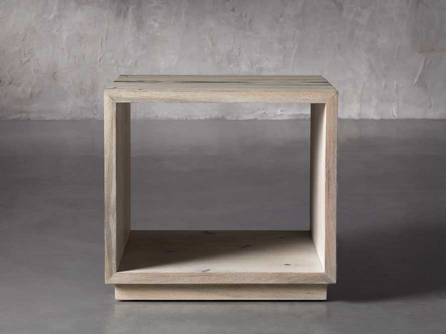 "Nika 24"" Spalted Oak Cube End Table, slide 1 of 8"