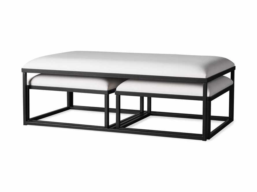 "Palmer Upholstered 53"" Rectangle Nesting Coffee Table in Black Base, slide 5 of 5"