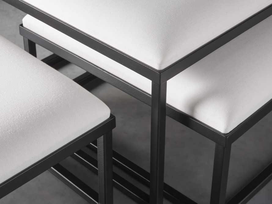 "Palmer Upholstered 53"" Rectangle Nesting Coffee Table in Black Base, slide 4 of 5"