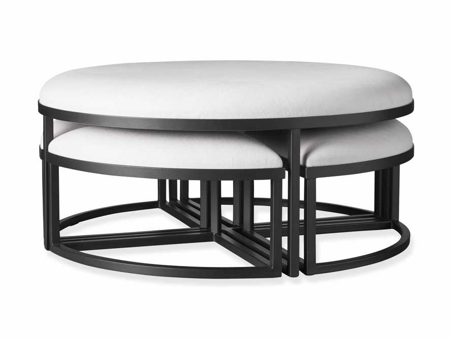 """Palmer Upholstered 42"""" Round Nesting Coffee Table in Black Base, slide 6 of 6"""