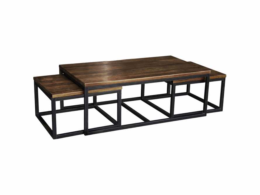Palmer Nesting Coffee Table Set in Bali Brown