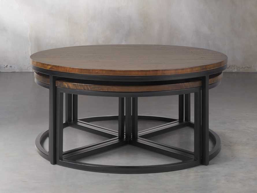 Palmer Round Nesting Coffee Table in Bali Brown, slide 1 of 8