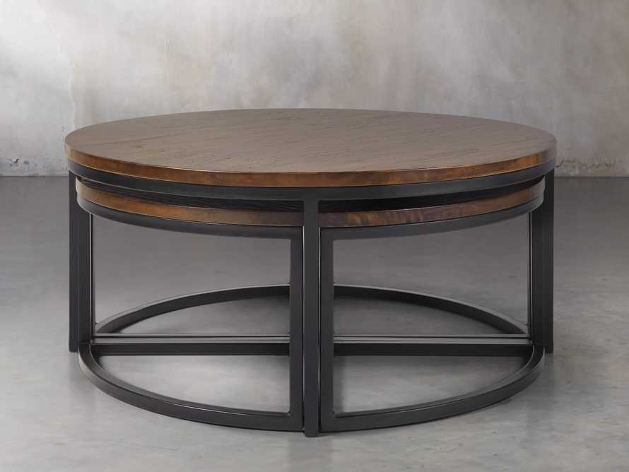 Palmer Round Nesting Coffee Table in Bali Brown, slide 2 of 8
