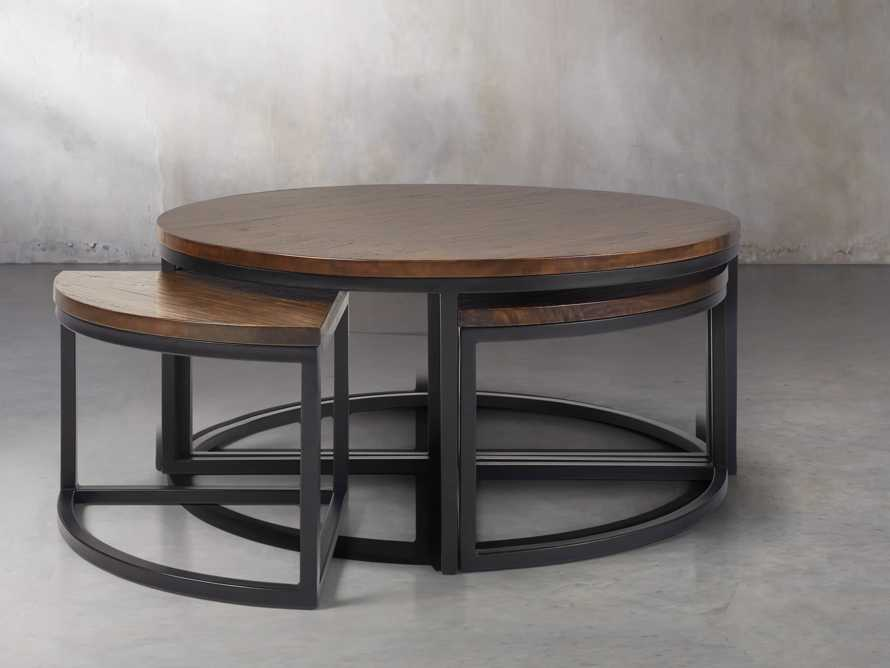 Palmer Round Nesting Coffee Table in Bali Brown, slide 3 of 8