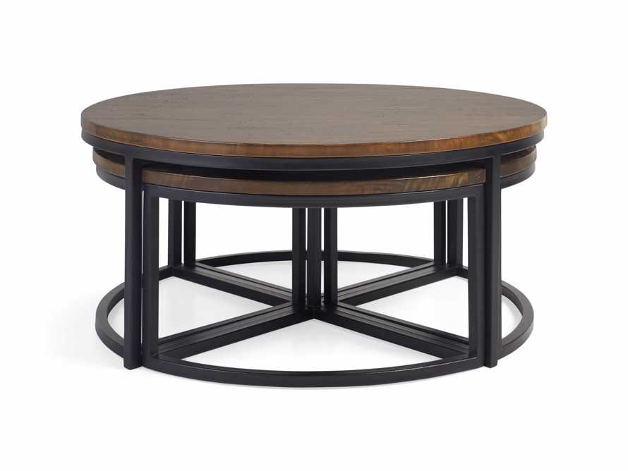 Palmer Round Nesting Coffee Table in Bali Brown, slide 4 of 8