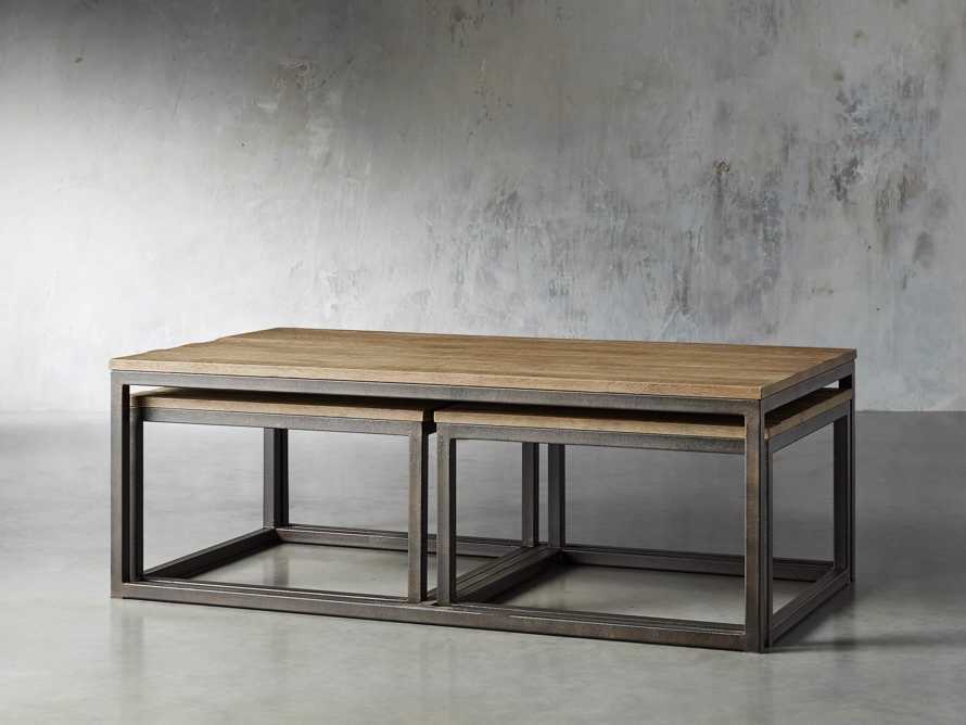 Palmer Nesting Coffee Table Set in Natural Oak, slide 2 of 7
