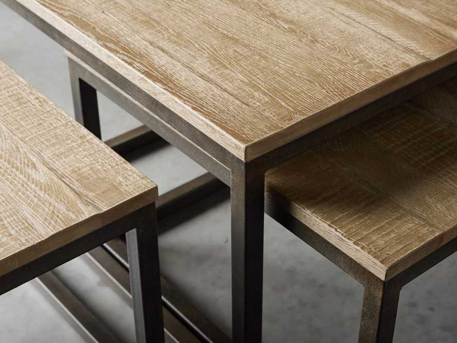 Palmer Nesting Coffee Table Set in Natural Oak, slide 5 of 7