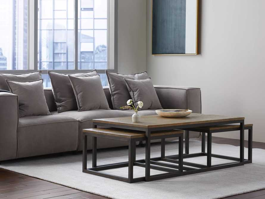 Palmer Nesting Coffee Table Set in Natural Oak, slide 1 of 7