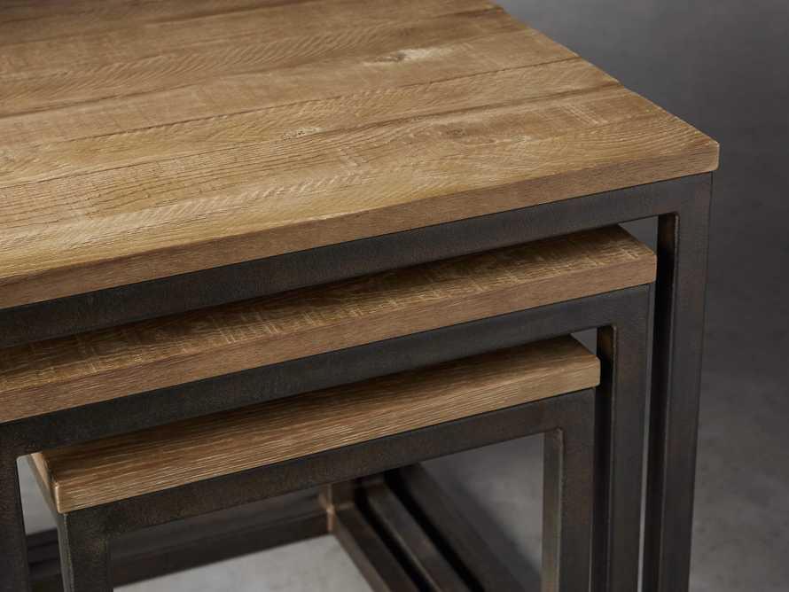 Palmer Square Nesting End Tables in Natural Oak, slide 2 of 5