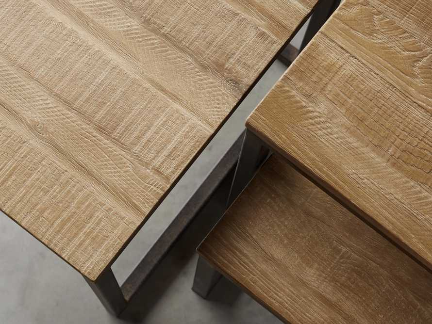 Palmer Square Nesting End Tables in Natural Oak, slide 3 of 5