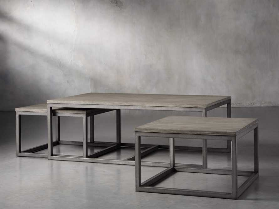 "Palmer 53"" Nesting Coffee Table Set in Grey, slide 2 of 5"