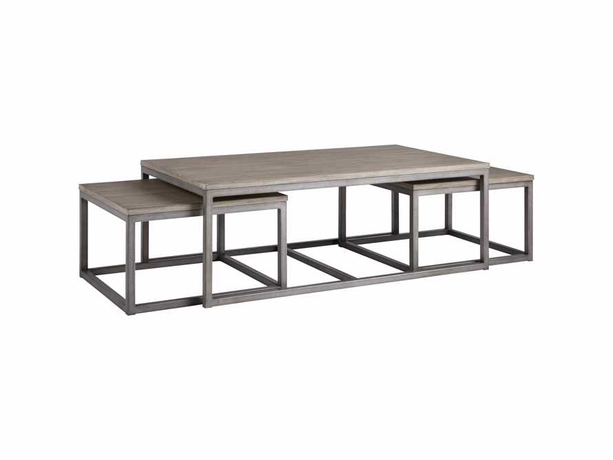 "Palmer 53"" Nesting Coffee Table Set in Grey, slide 5 of 5"