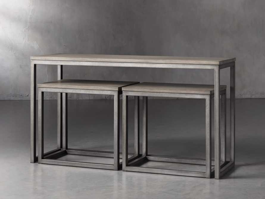 "Palmer 54"" Nesting Console Table Set in Grey, slide 1 of 5"