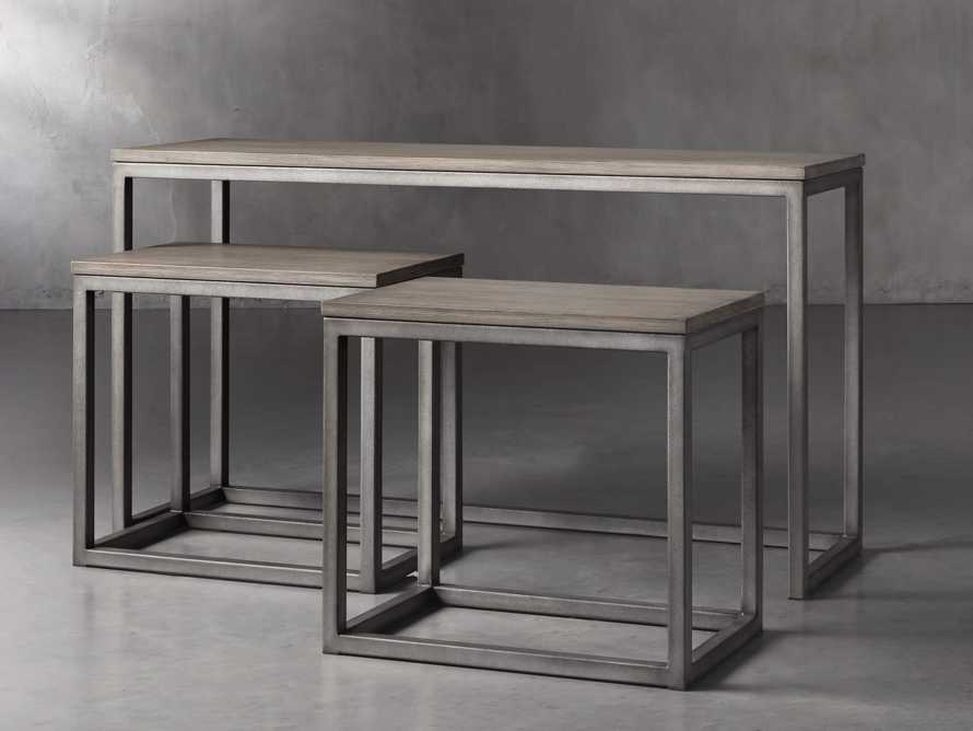 "Palmer 54"" Nesting Console Table Set in Grey, slide 2 of 5"