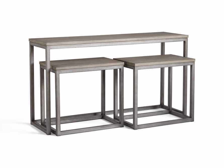 "Palmer 54"" Nesting Console Table Set in Grey, slide 5 of 5"