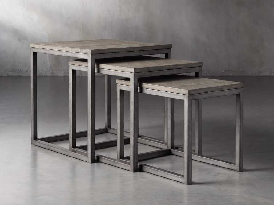 "Palmer 24"" Square Nesting End Table Set in Grey"