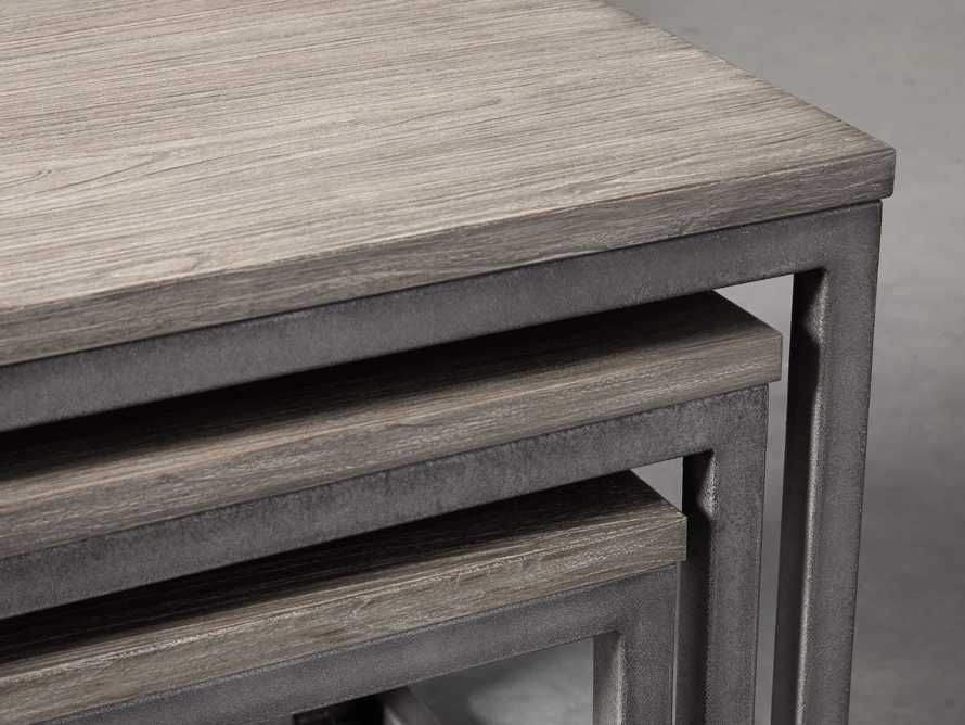 """Palmer 24"""" Square Nesting End Table Set in Grey"""