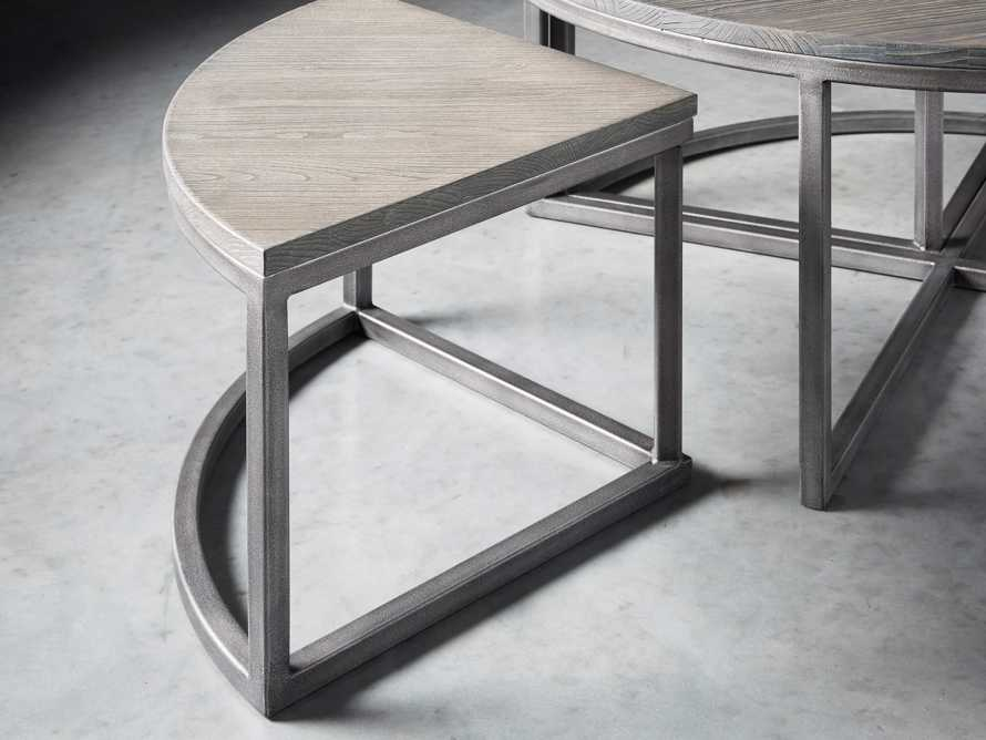 Palmer Round Nestling Coffee Table in Stone on Ash, slide 4 of 8