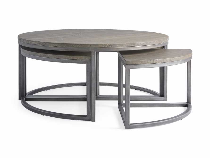 Palmer Round Nestling Coffee Table in Stone on Ash, slide 8 of 8