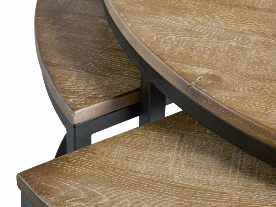 Palmer Round Nesting Coffee Table in Natural Oak