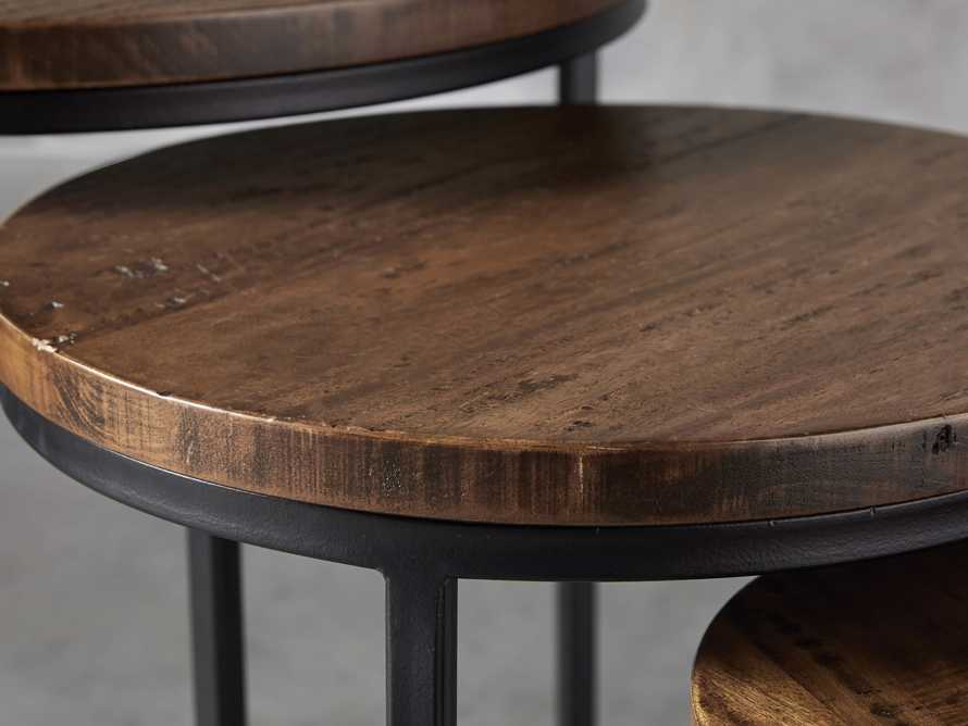 "Palmer 24"" Round Nesting Side Table in Bali Brown"