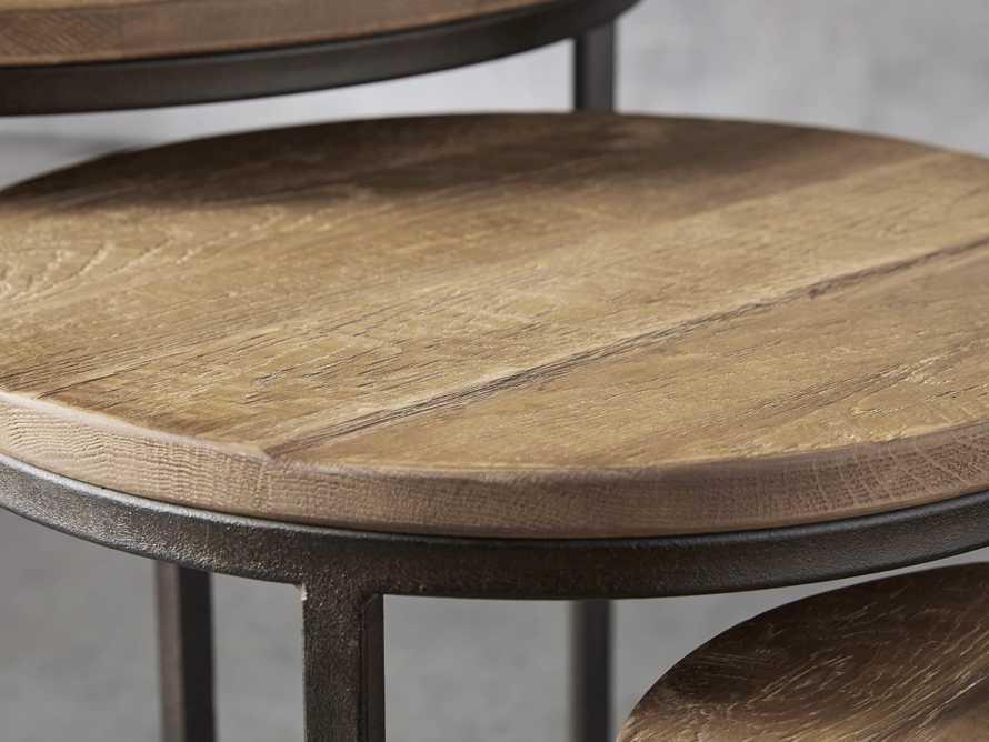 "Palmer 24"" Round End Table in Natural Oak, slide 2 of 5"