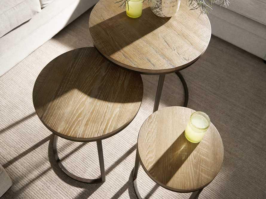Palmer Round Nesting End Tables in Natural Oak, slide 5 of 6