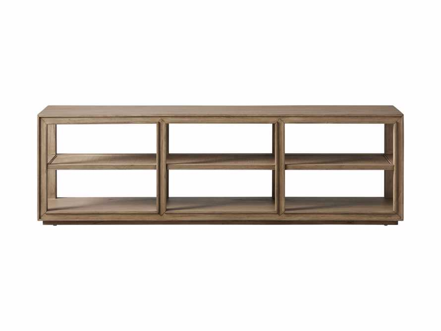 """Pearson 72"""" Cane Sofa Back Console Table in Natural, slide 5 of 6"""
