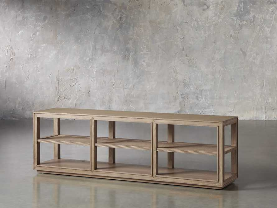"""Pearson 72"""" Cane Sofa Back Console Table in Natural, slide 2 of 6"""
