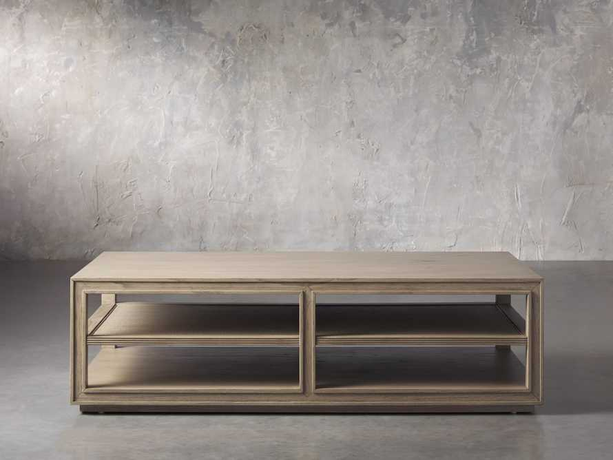 """Pearson 56"""" Cane Coffee Table in Natural, slide 1 of 4"""
