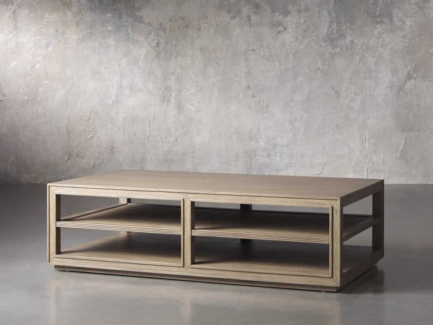 """Pearson 56"""" Cane Coffee Table in Natural, slide 2 of 4"""