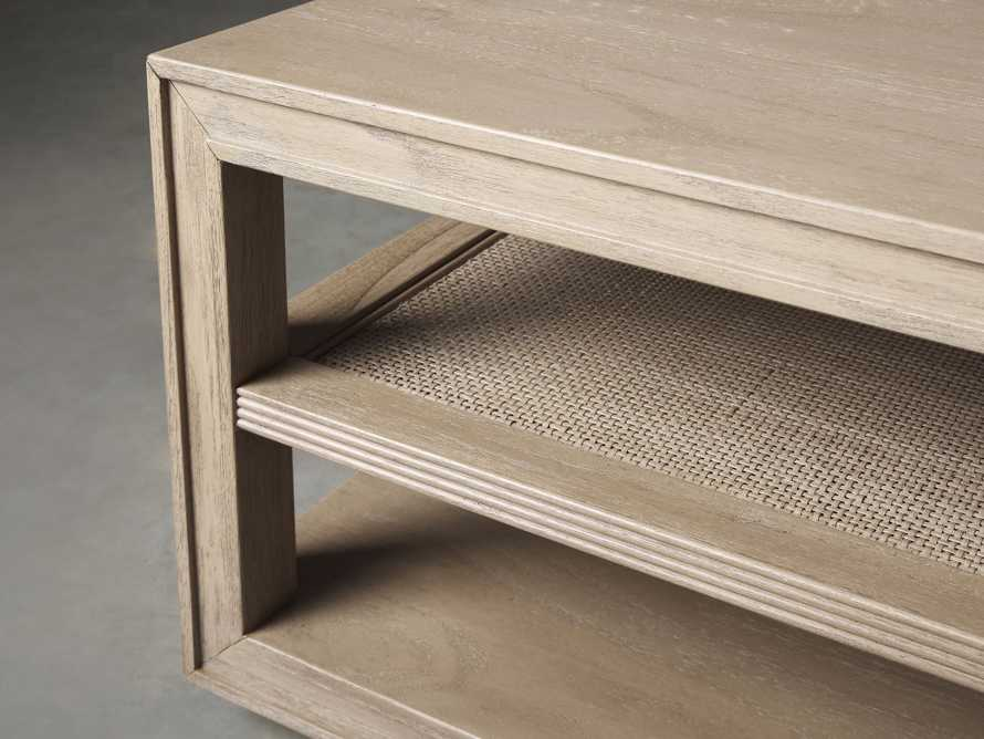 """Pearson 56"""" Cane Coffee Table in Natural, slide 3 of 4"""