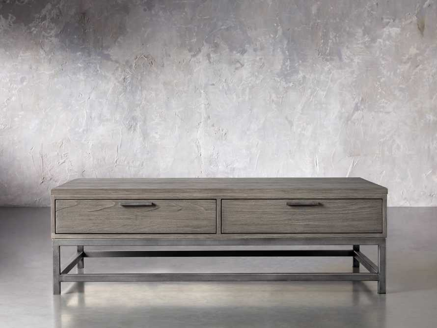"""Palmer 54"""" Storage Coffee Table in Stone on Ash, slide 1 of 4"""