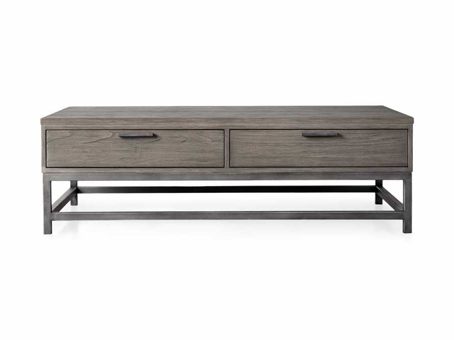 """Palmer 54"""" Storage Coffee Table in Stone on Ash, slide 4 of 4"""