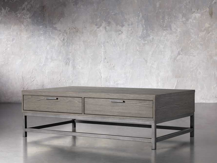 """Palmer 54"""" Storage Coffee Table in Stone on Ash, slide 2 of 4"""