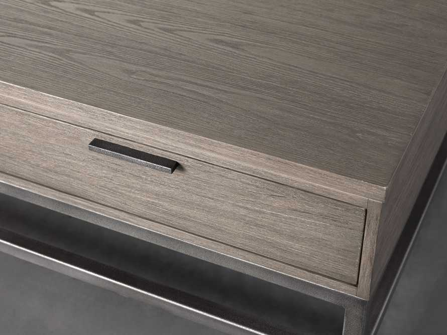 """Palmer 54"""" Storage Coffee Table in Stone on Ash, slide 3 of 4"""