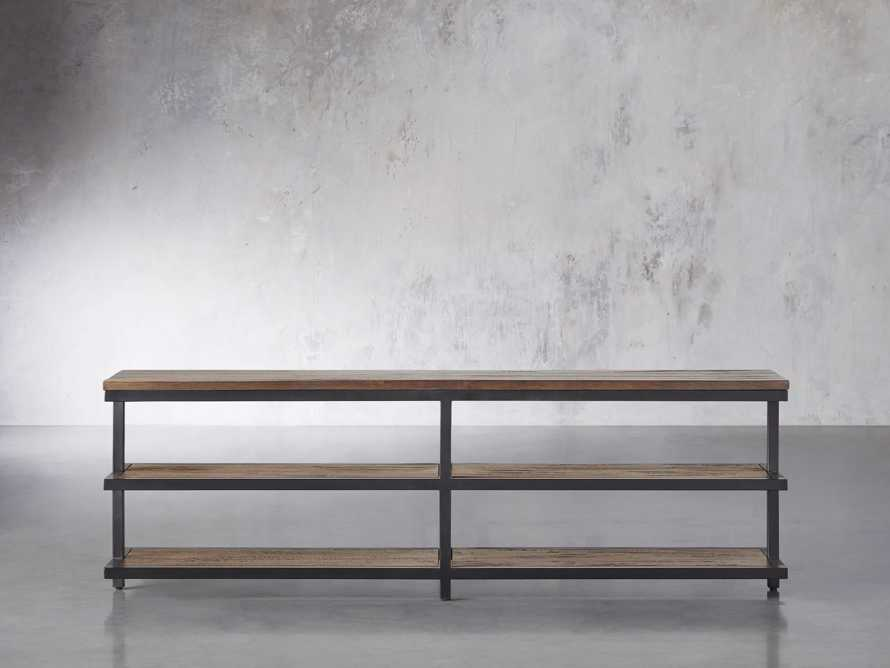 """Palmer 72"""" Three Tier Sofa Back Console Table in Bali Brown, slide 1 of 7"""