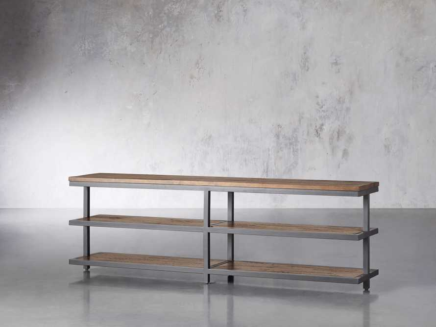 """Palmer 72"""" Three Tier Sofa Back Console Table in Bali Brown, slide 2 of 7"""