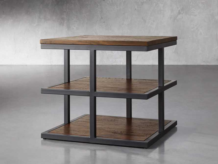 """Palmer 26"""" Three Tier End Table in Bali Brown, slide 2 of 4"""