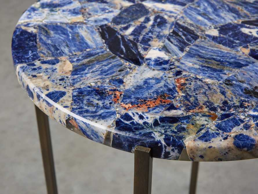 "Ludlow 15"" Royal Sodalite Martini Table, slide 2 of 4"